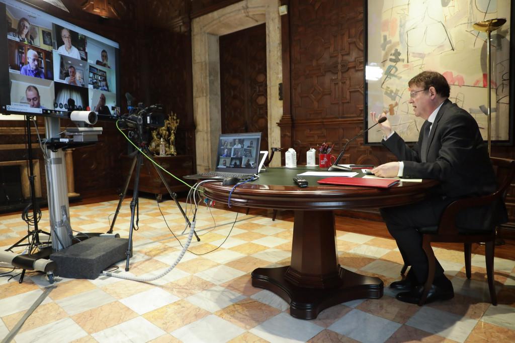 Ximo Puig videoconferencia portavoces Corts