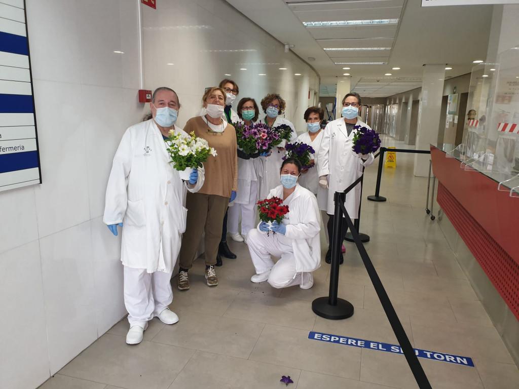 entrega flores centros sanitarios Torrent