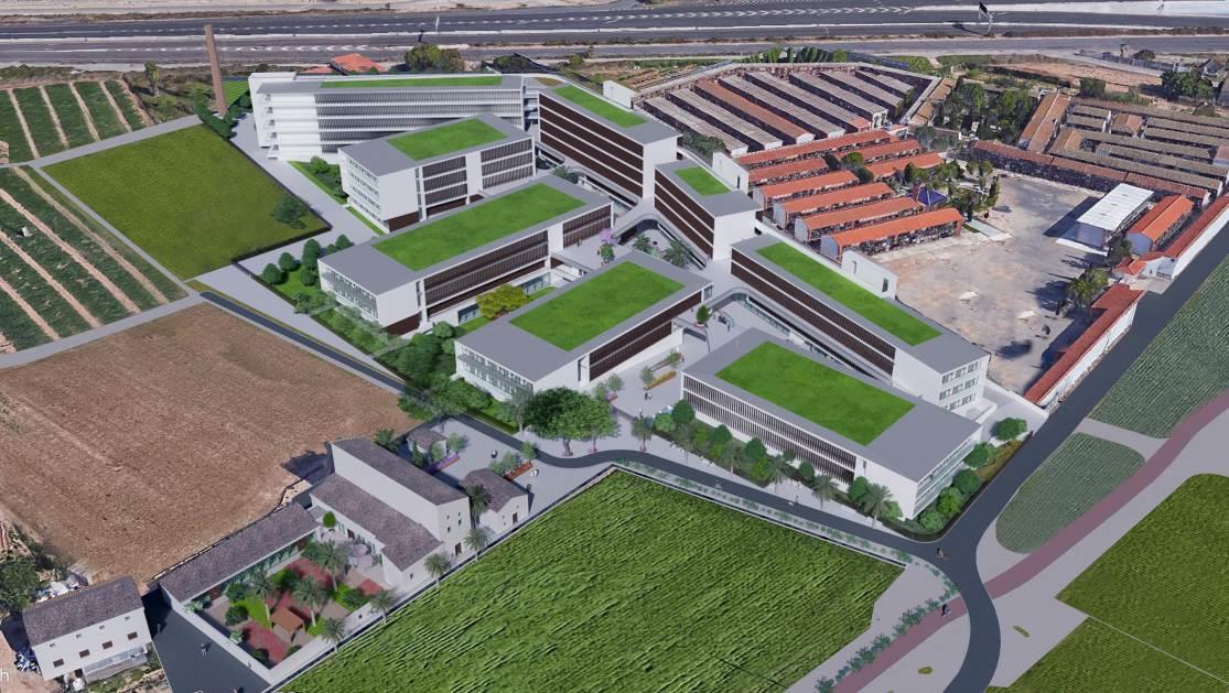 proyecto residencia estudiantes benimaclet junto cementerio