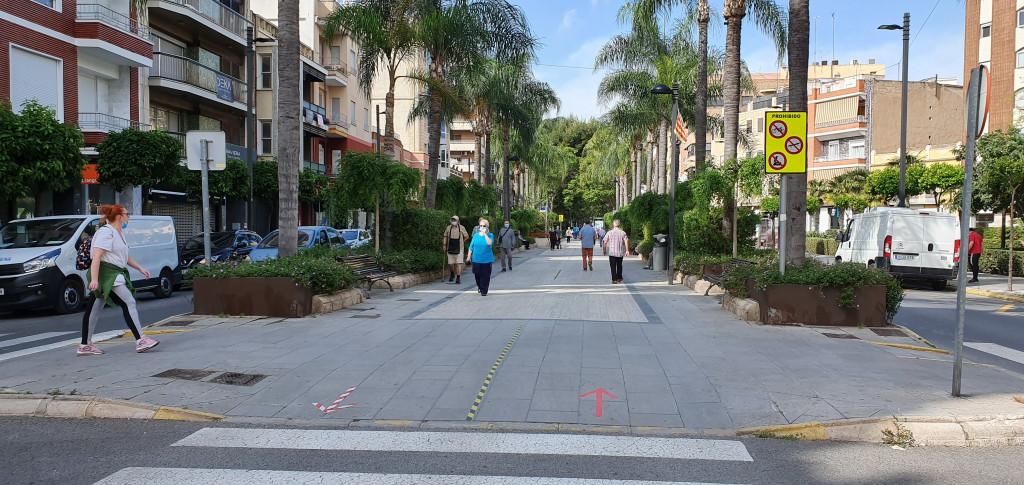 avenida El vedat de Torrent señalizacion
