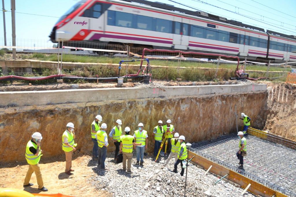 Obras estacion tren Albal