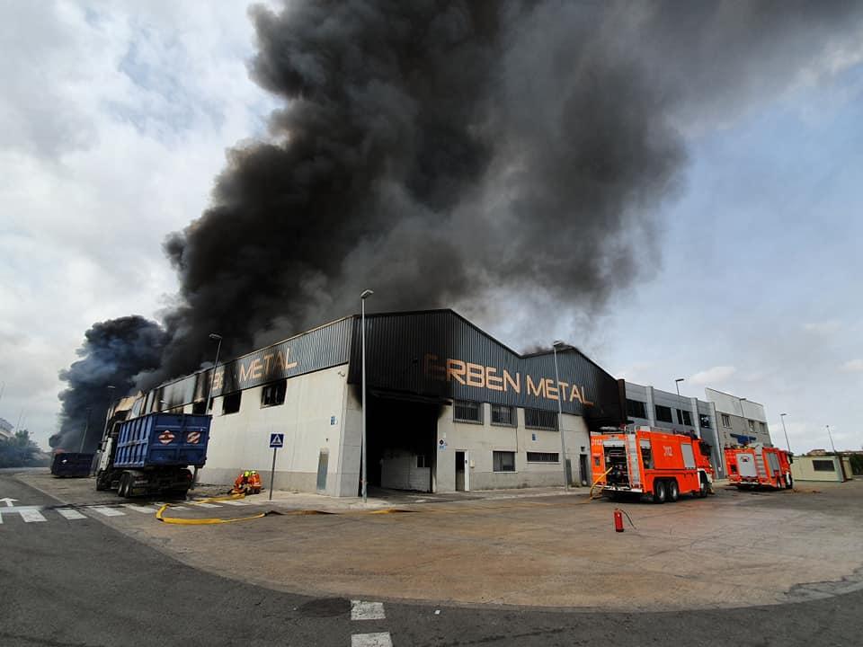 incendio empresa Aldaia