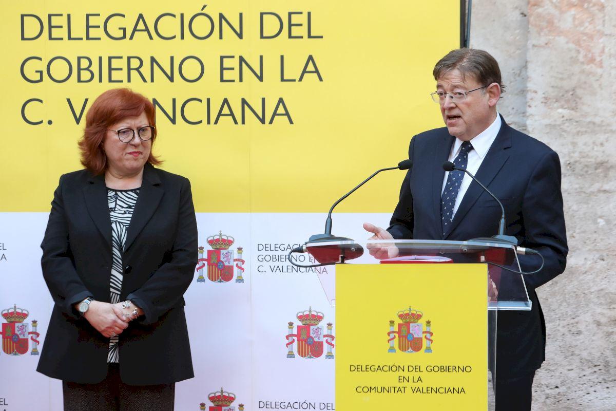 Gloria Calero y Ximo Puig toma posesion delegada Gobierno