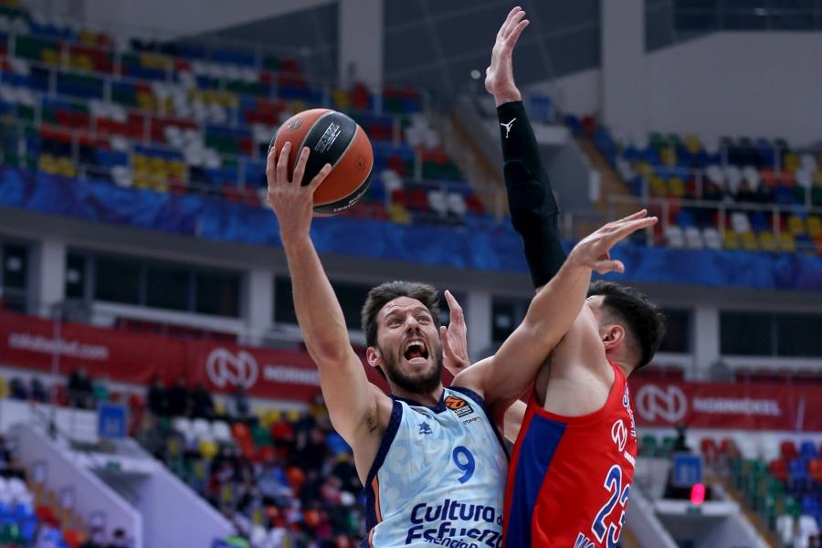 Valencia Basket cae en pista del CSKA (94-85)