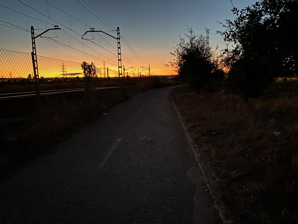 tramo sin luz ruta saludable entre Torrent y Picanya