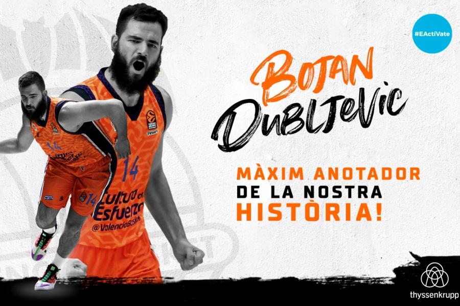 Bojan Dubljevic, máximo anotador de la historia del Valencia Basket