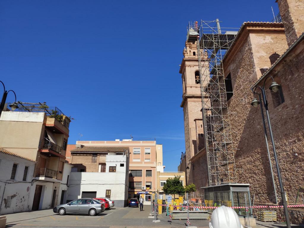 La parroquia de San Juan Apóstol y Evangelista de Massamagrell inicia las obras de reparación de la cúpula