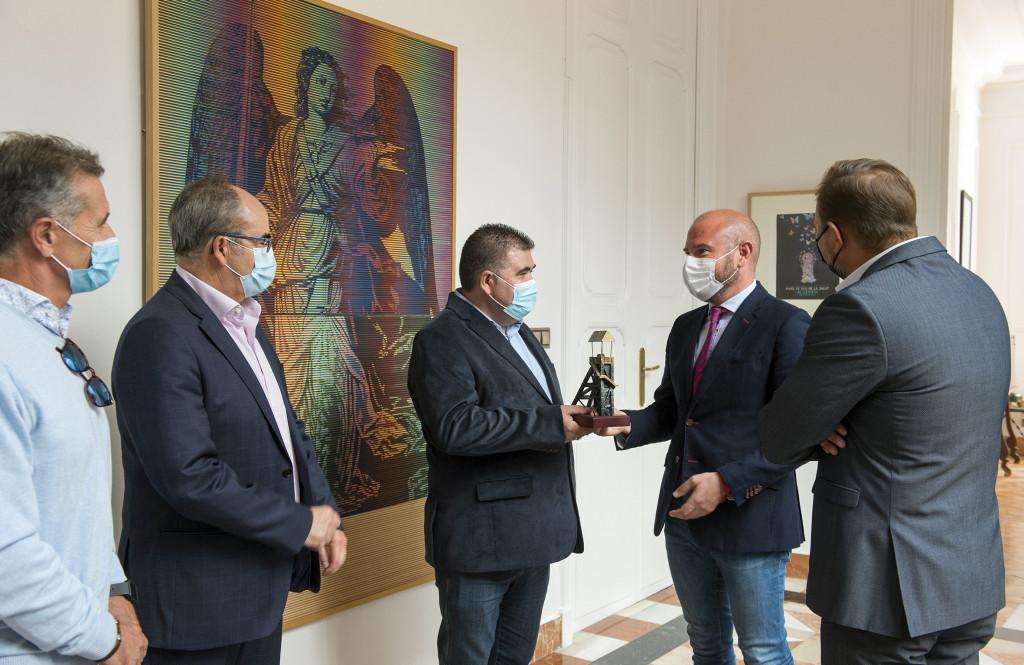 Con el presidente de la Diputación de Valencia, Toni Gaspar.