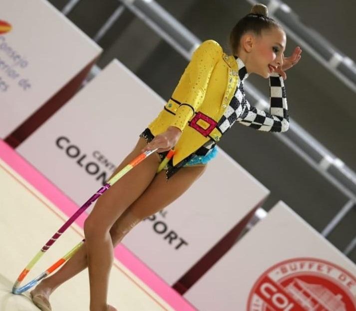 La torrentina Celia Rodríguez, subcampeona de España de gimnasia rítmica