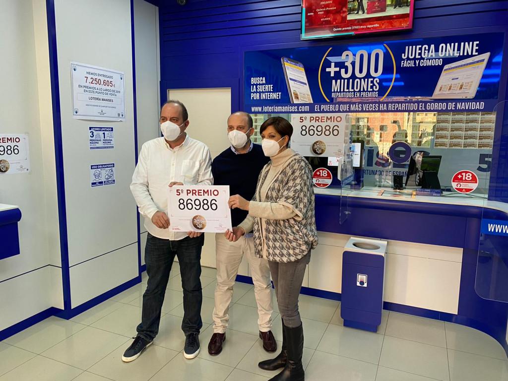 Quinto premio Lotería Navidad Loteria Manises
