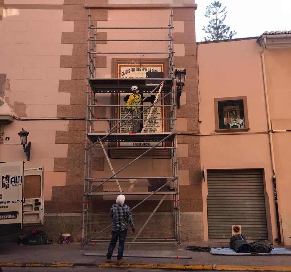Rafelbunyol retirada mural caidos por España