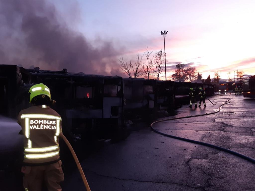 incendio cocheras EMT Valencia
