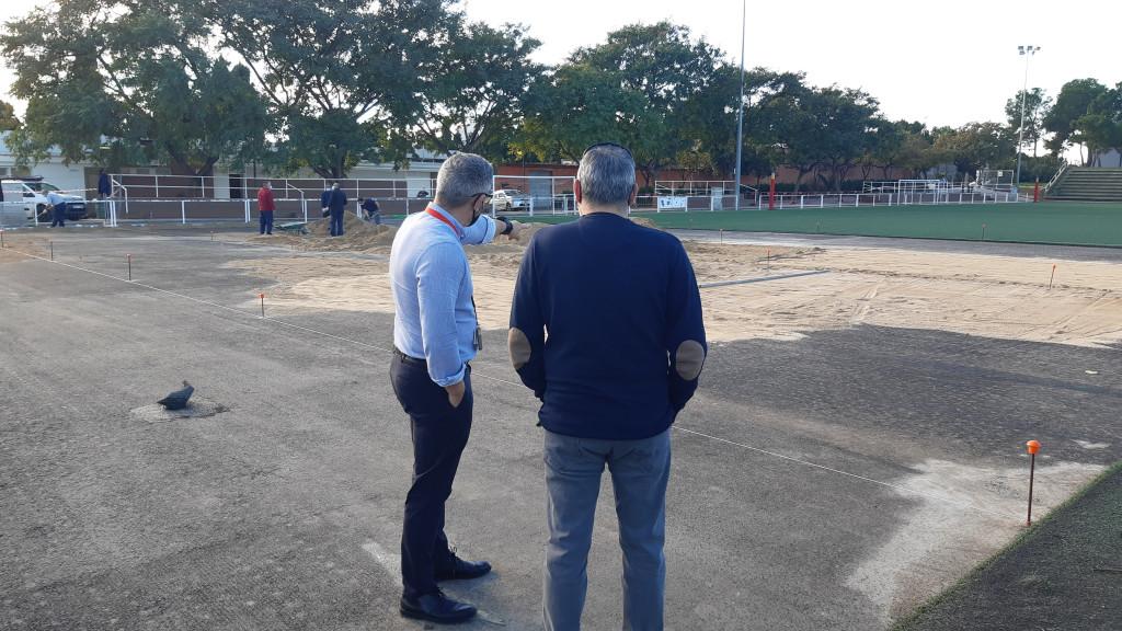 obras reparación campo fútbol Paterna