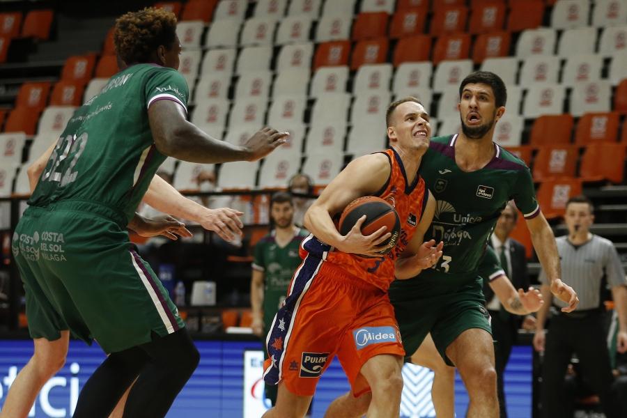 Valencia Basket cierra la semana visitando la pista del Unicaja