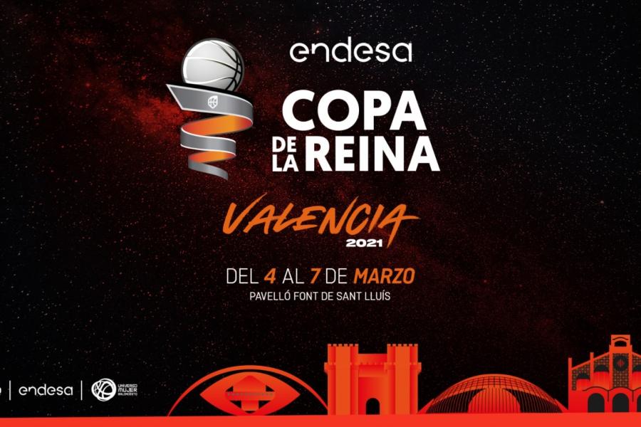 Valencia, sede de la Copa de la Reina LF Endesa 2021 y 2022