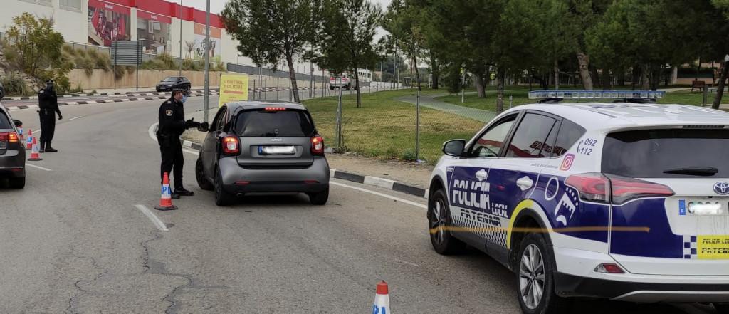 Control policial cierre perimetral Paterna