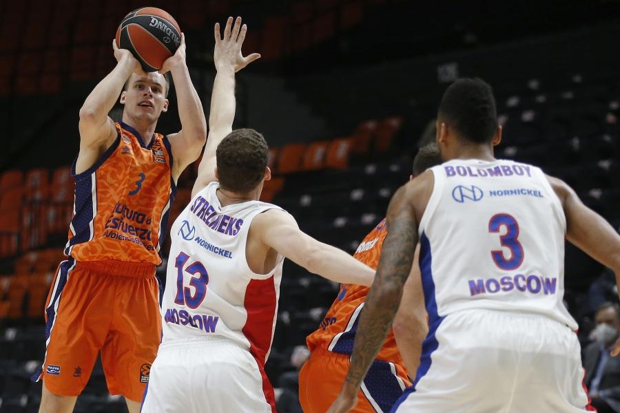 Dos prórrogas y un partido épico necesito Valencia Basket para ganar al CSKA (105 - 103)