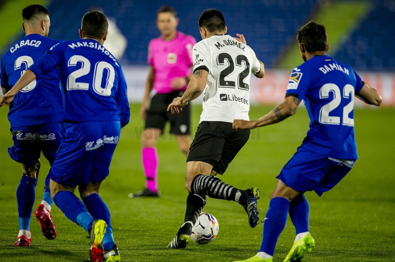Derrota del Valencia CF ante el Getafe CF (3-0)
