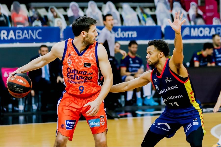 La racha de Valencia Basket en Liga Endesa termina en Andorra (84-72)