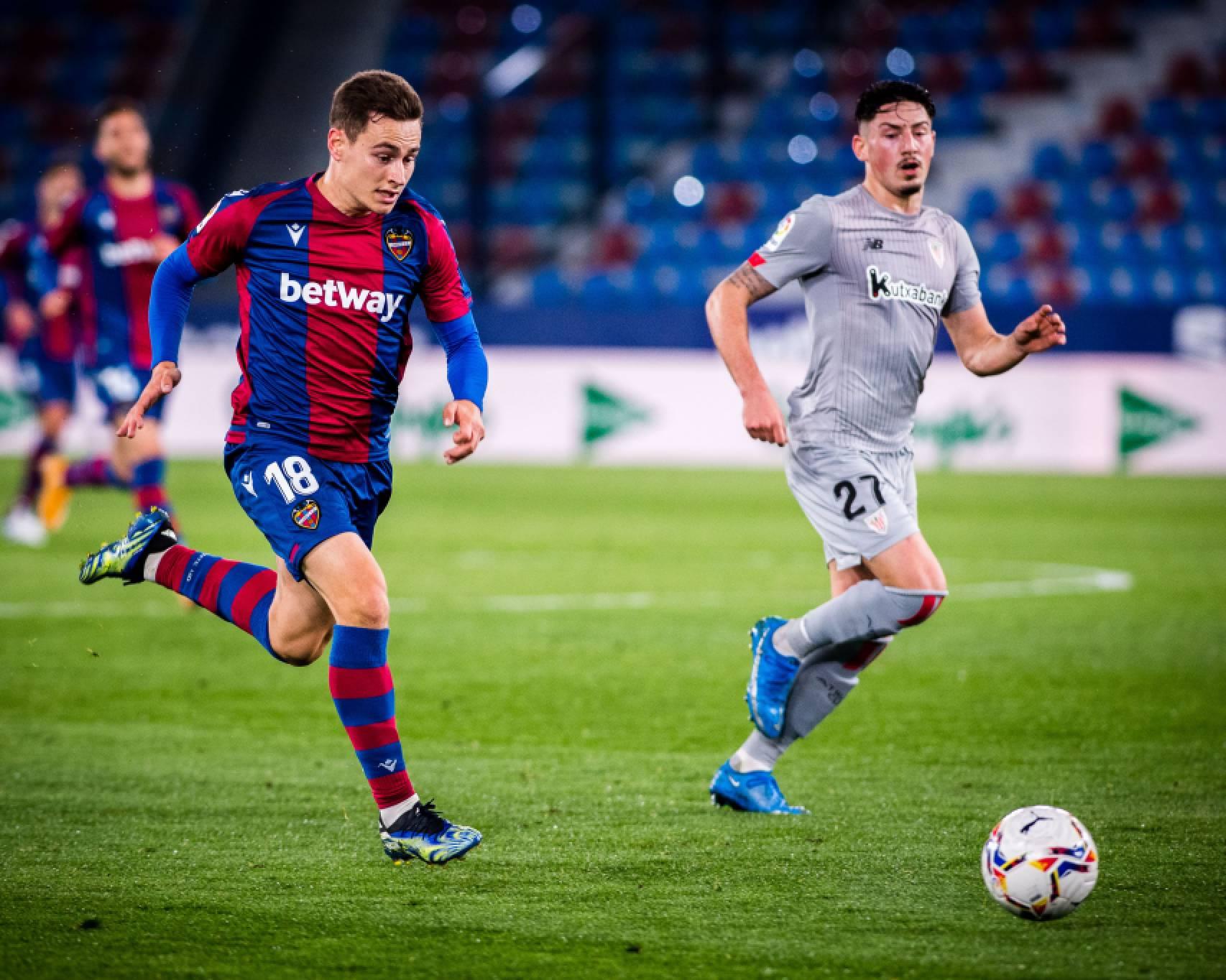 Levante UD y Athletic se reparten los puntos en el Ciutat