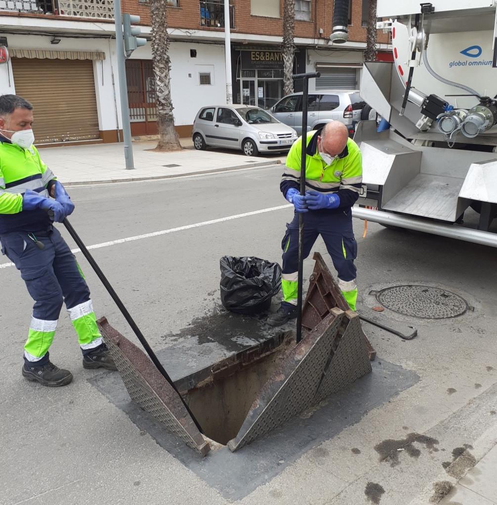 Catarroja recull 460 quilos de tovalloletes d'un sol ús de la seua xarxa de sanejament