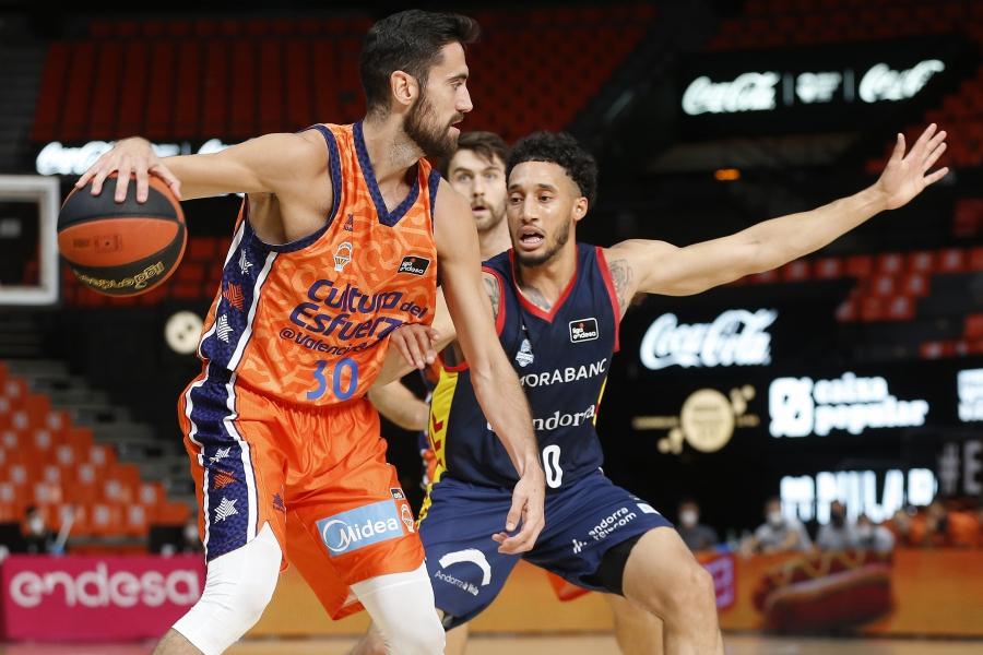 Valencia Basket vuelve a la Liga Endesa en la pista del MoraBanc Andorra