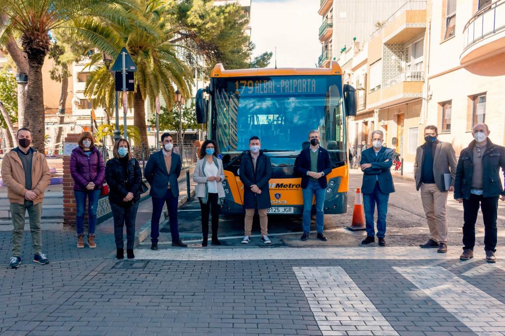 pone en marcha el 1 de marzo una nueva línea de MetroBus que unirá Albal, Catarroja, Massanassa, Alfafar y Benetússer con el metro de Paiporta