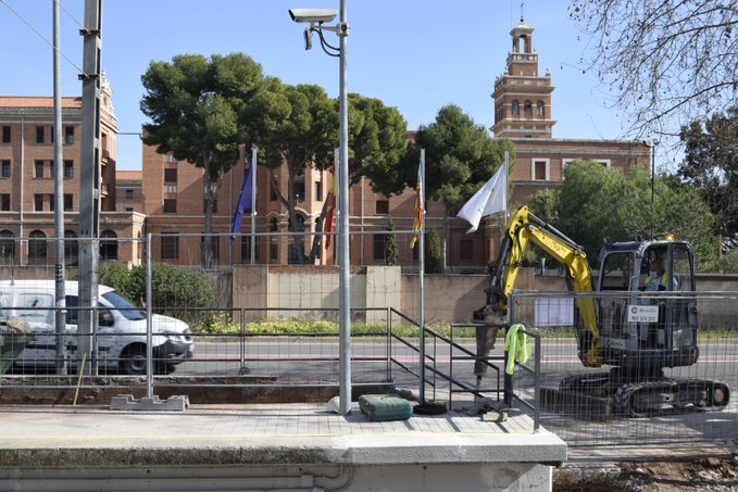 obras estación de Seminari-CEU Metrovalencia