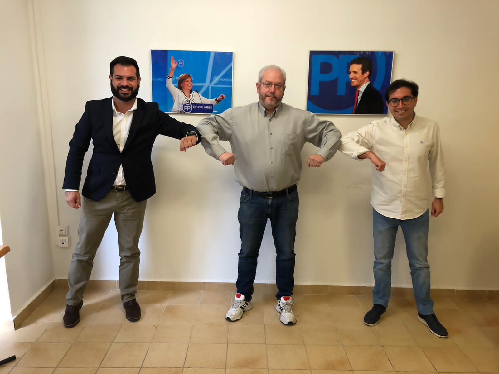 Modesto Martínez, David Sánchez y Marcos Campos PP Burjassot