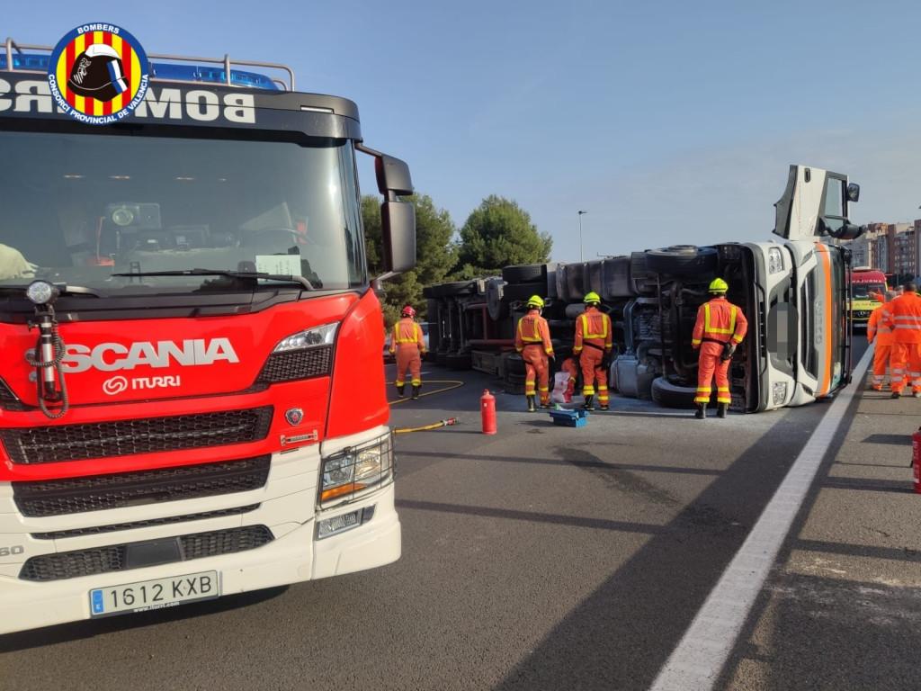 accidente carretera Paterna Burjassot