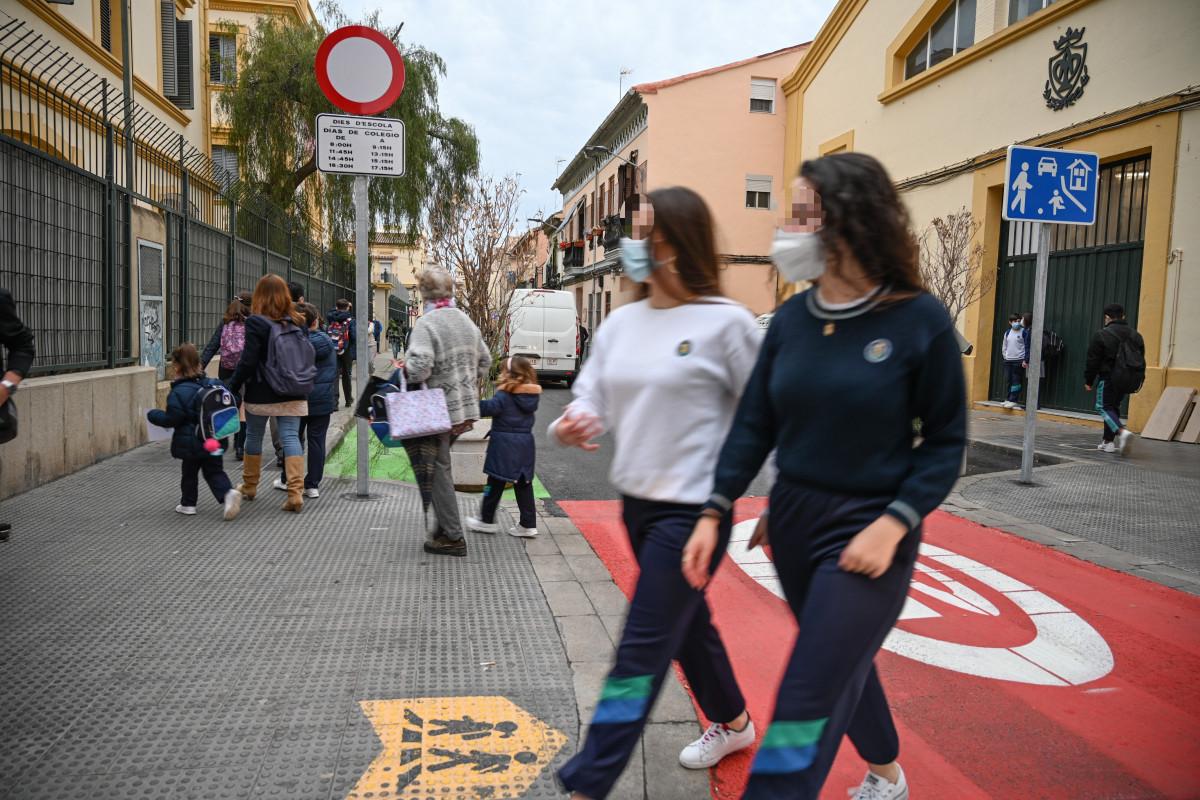 peatonalización colegio Pureza de María – Grao, en el barrio del Cabanyal-Canyamelar.