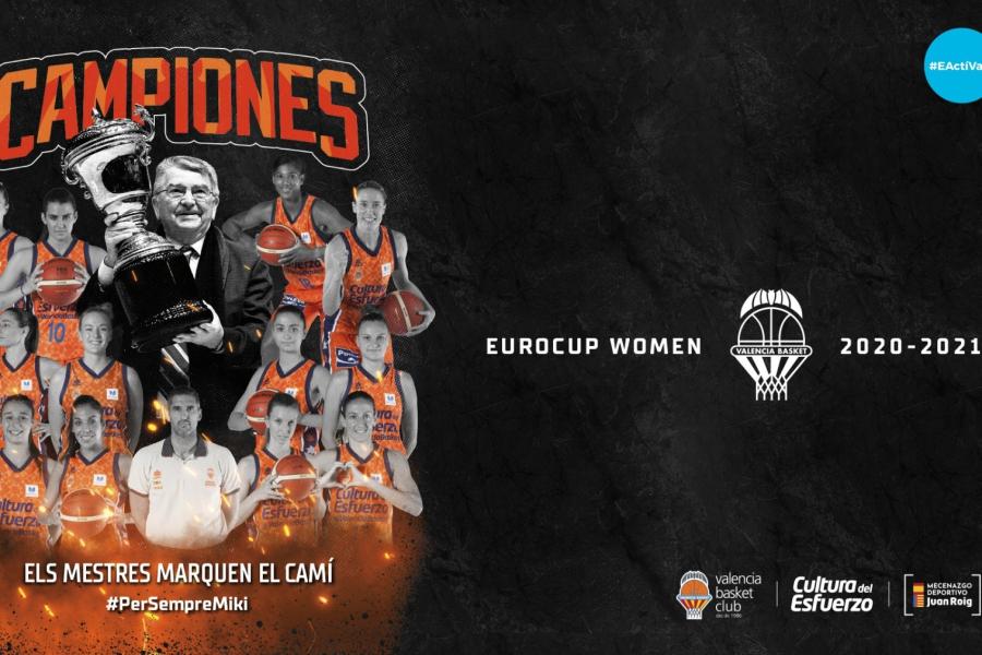 Valencia Basket ofrecerá este martes el título de la Eurocup Women