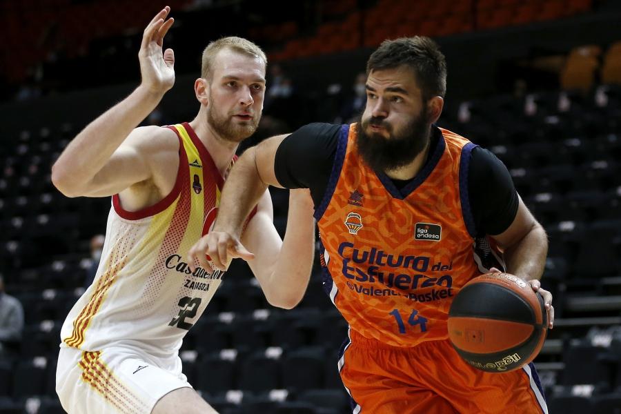 Valencia Basket  visita la pista del Casademont Zaragoza en partido de Liga Endesa
