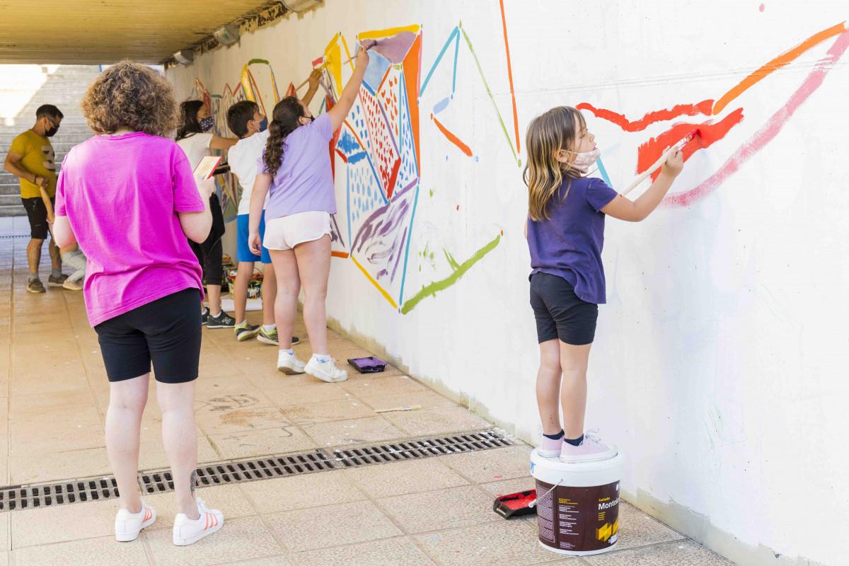 Cromàpica torna amb un mural participatiu a la Font de l'Omet