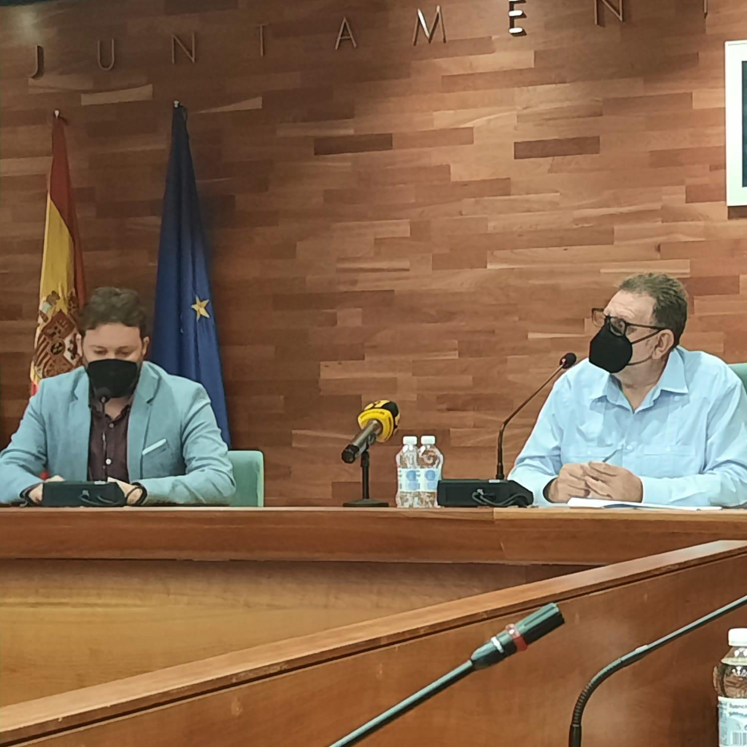 Jesús Ros y Andrés Campos rueda de prensa Torrent