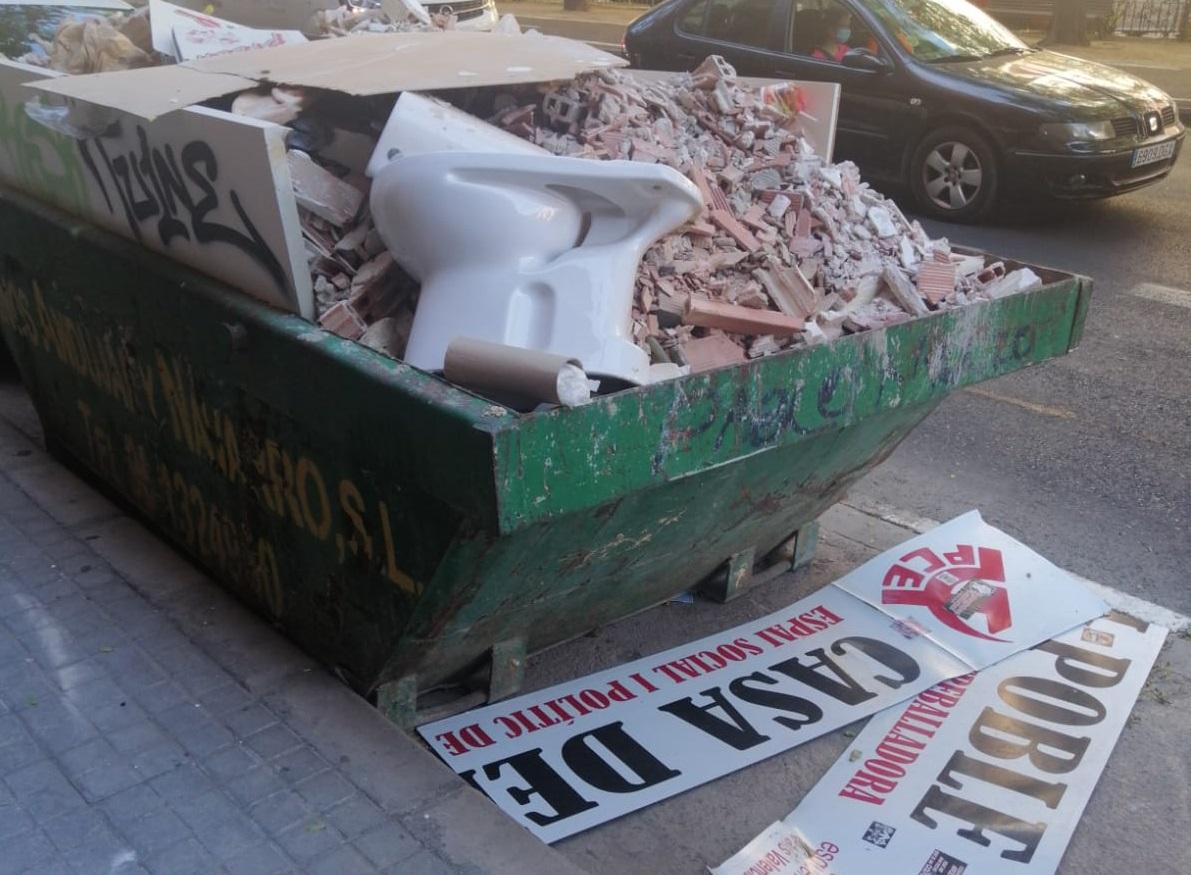 <h2>ataque a la sede de EUPV en Manises</h2>
