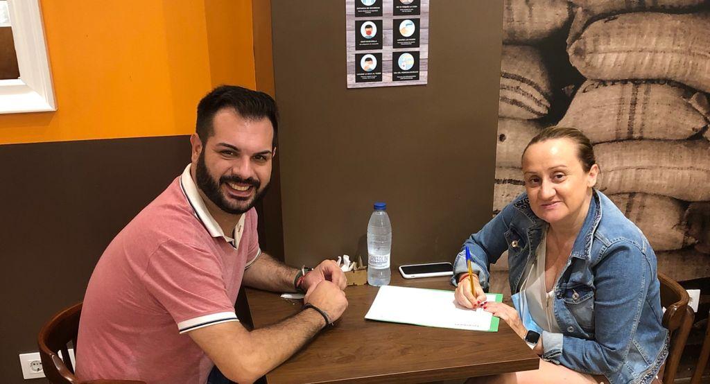 Modesto Martínez y Virginia Garrigues. PP Alboraya