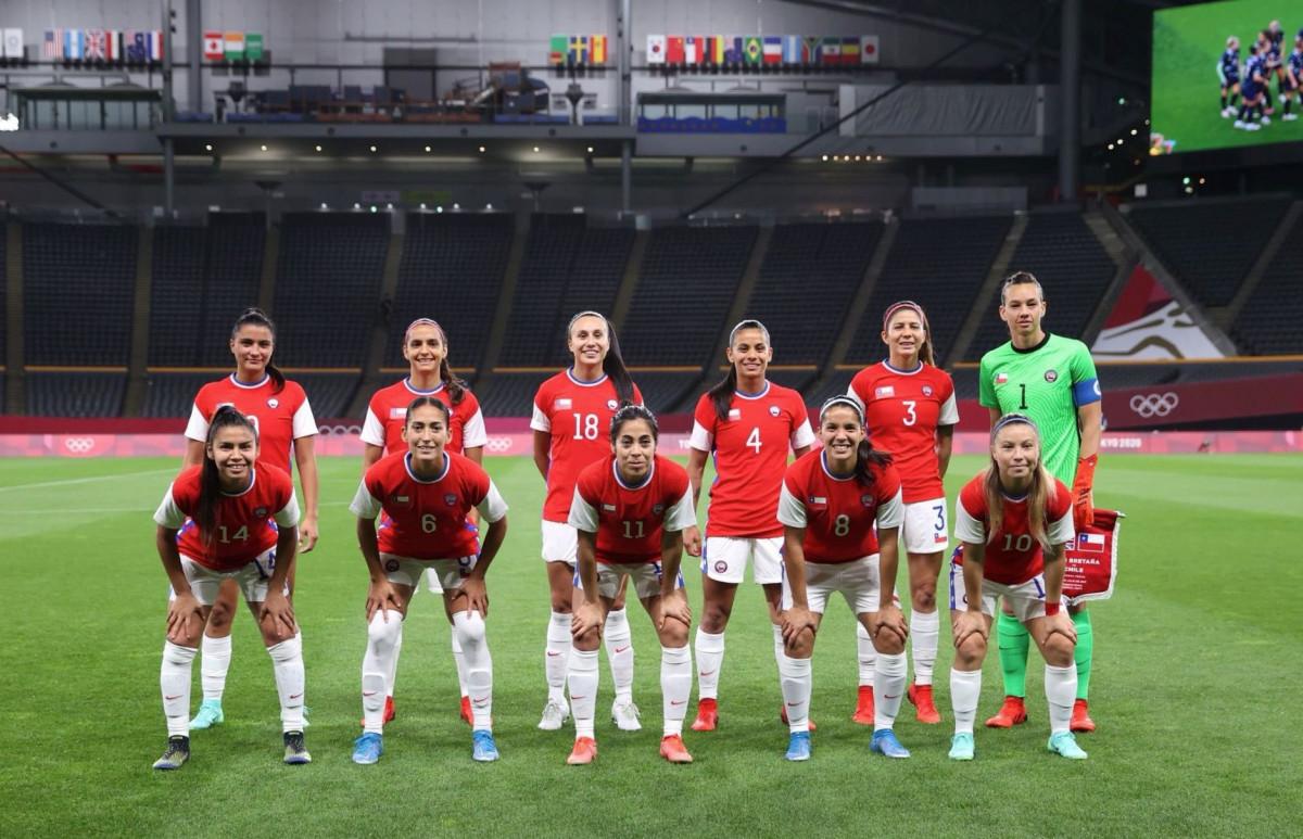 La Selección de Chile en su debut en los JJOO y con Nayadet en el once titular/ Foto: Nyadet López Opazo