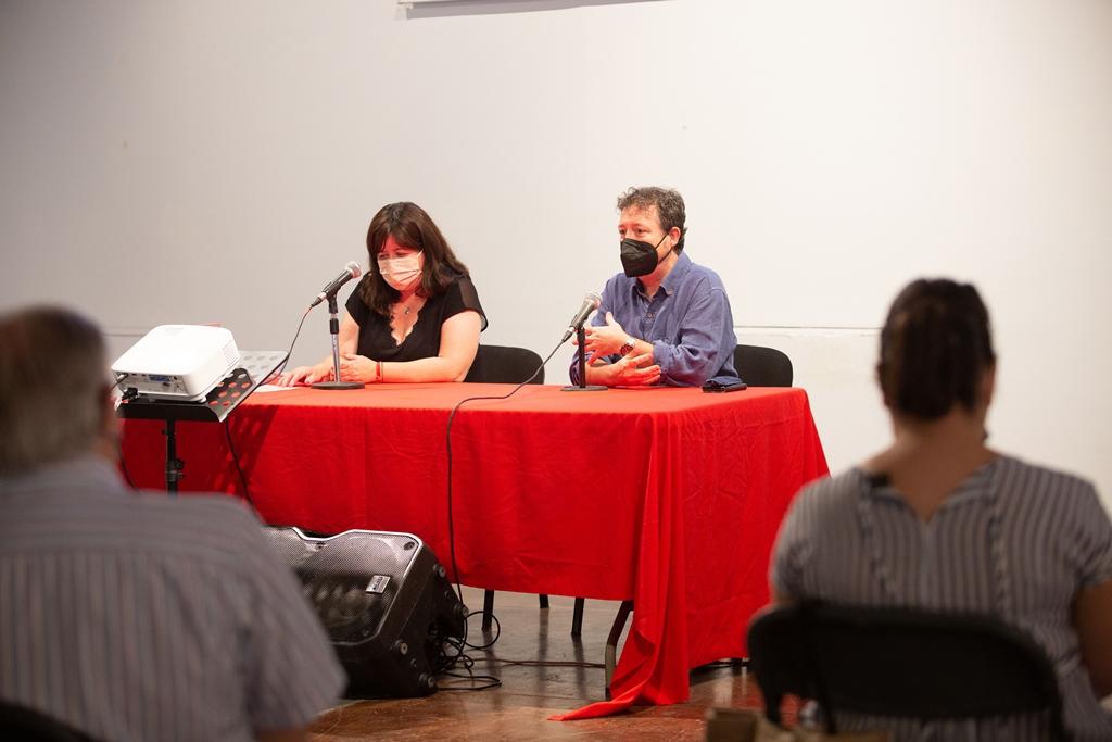 Teresa Bueso y Joan Enric Lluna en la presentación del festival/ Foto: musicacambragodella