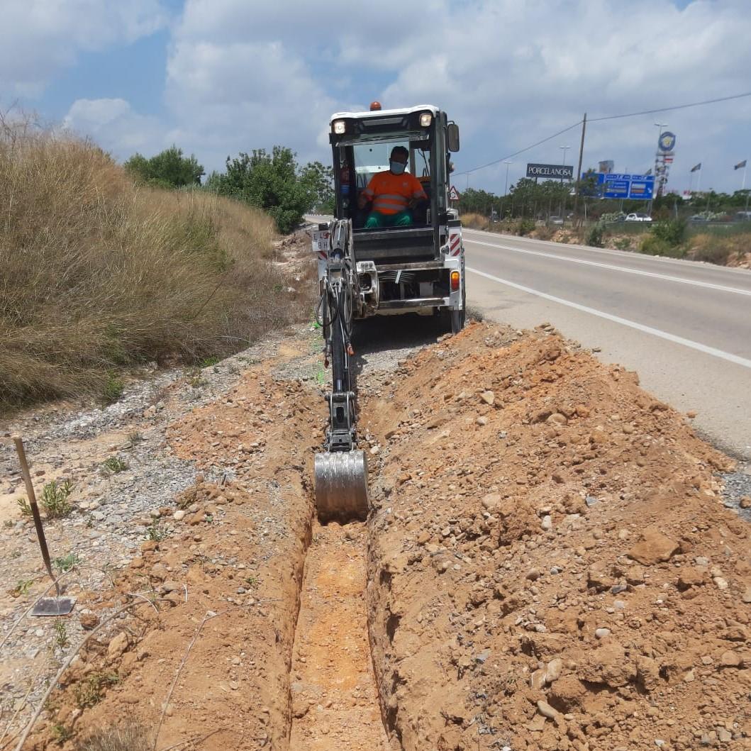 Trabajos de cierre de caminos/ Foto: Paterna