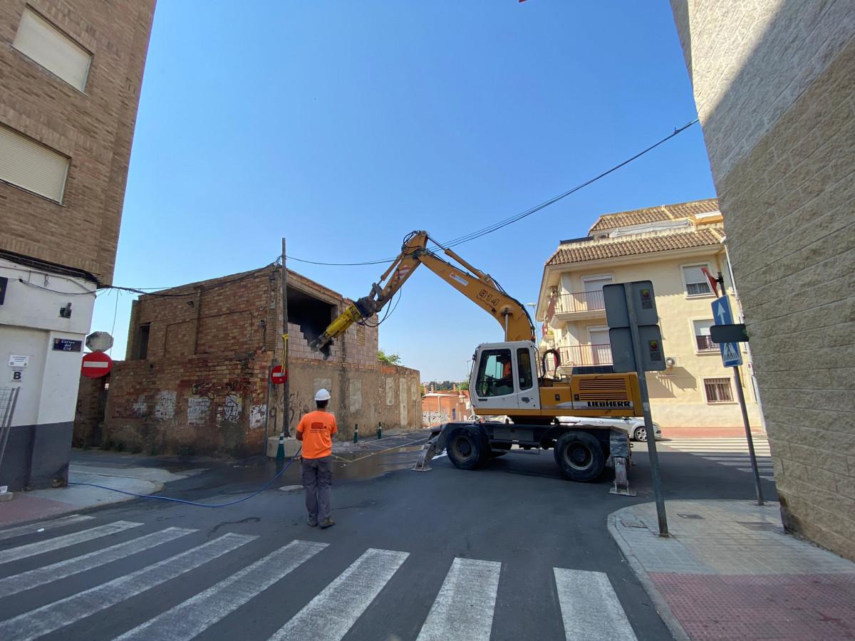 Demolición de la Casa del Pastor/ Foto: Paterna