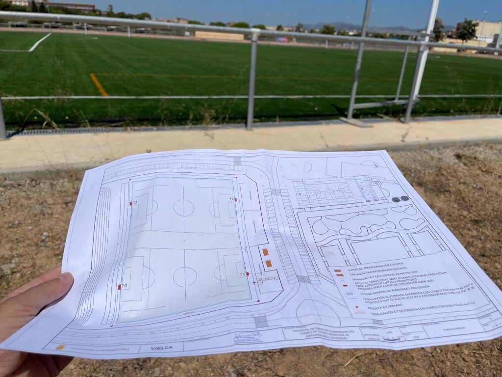 Plano de las luces del campo municipal/ Foto: Ayuntamiento de Massamagrell