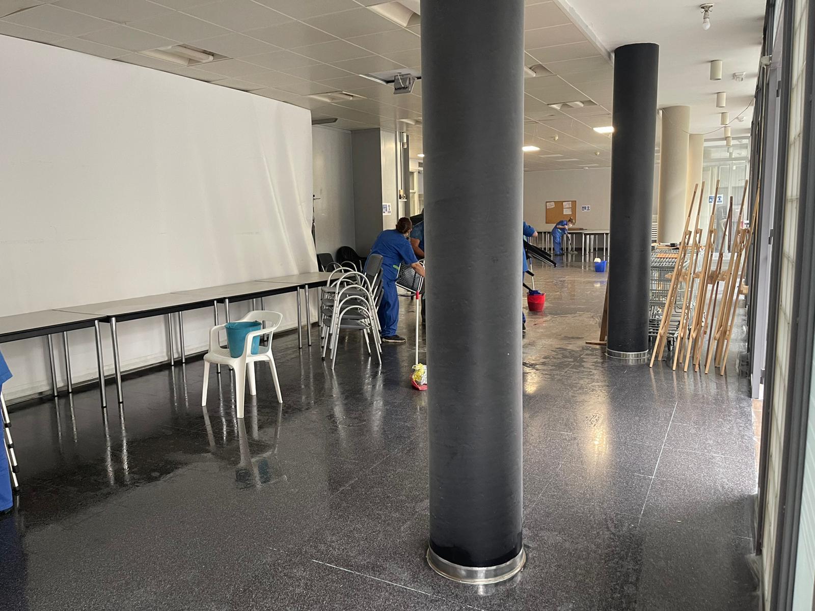 limpieza vandalismo Centro Cultural Massamagrell