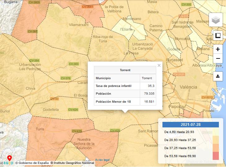 mapa pobreza Torrent