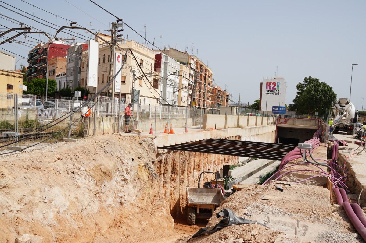 <h2>Burjassot inicio obras soterramiento vias metrovalencia</h2>