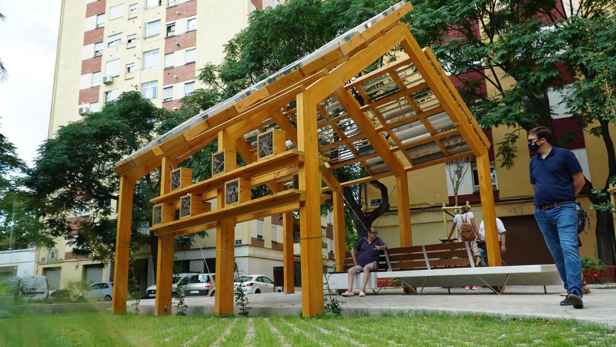 Infraestructura del corredor verde azul de Ciudad Fallera
