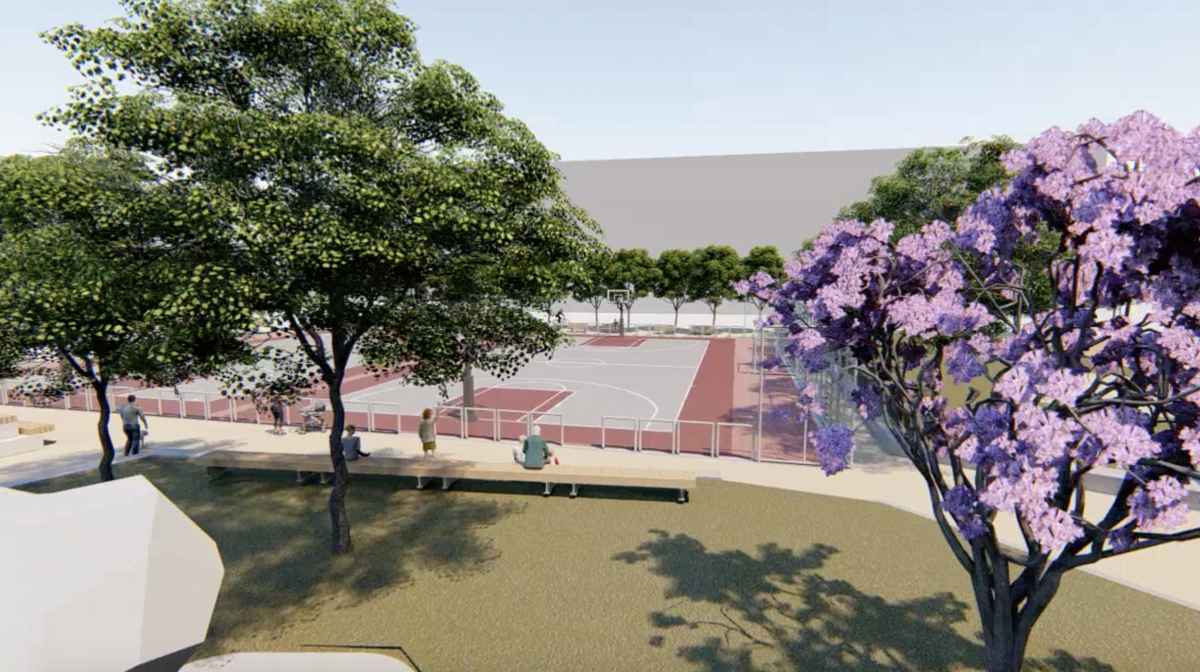 Recreación del aspecto final del nuevo espacio del Cabanyal tras finalizar las obras.