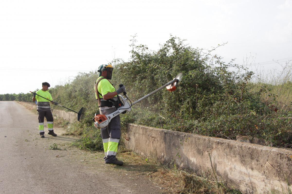 La brigada agrícola de Picassent trabaja intensivamente/ Foto: Ayuntamiento