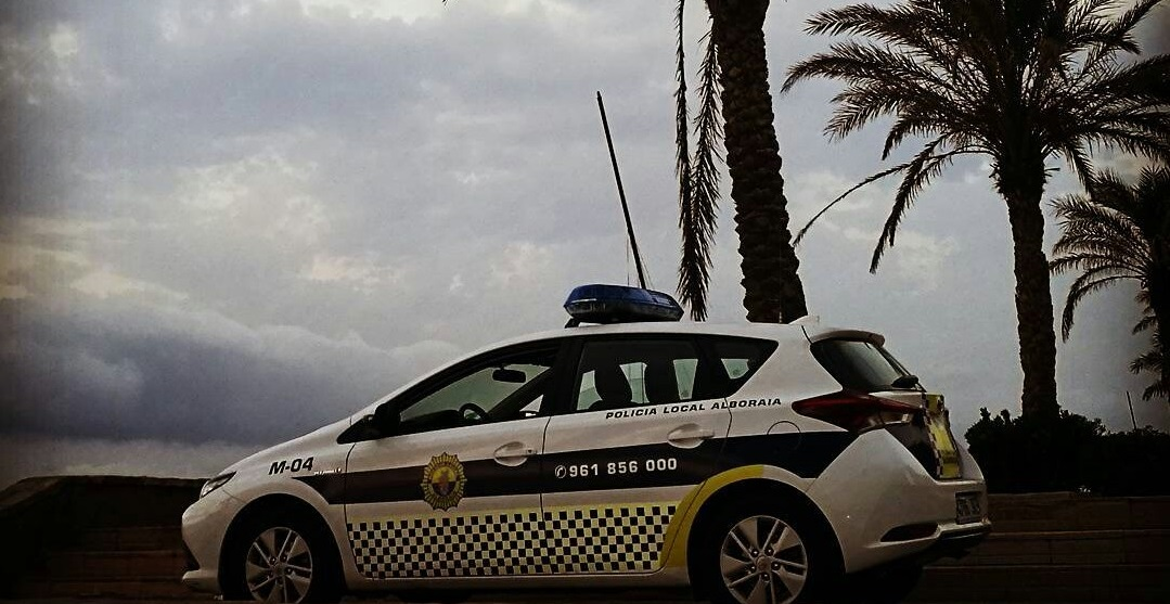 Policía Local Alboraya playa Patacona