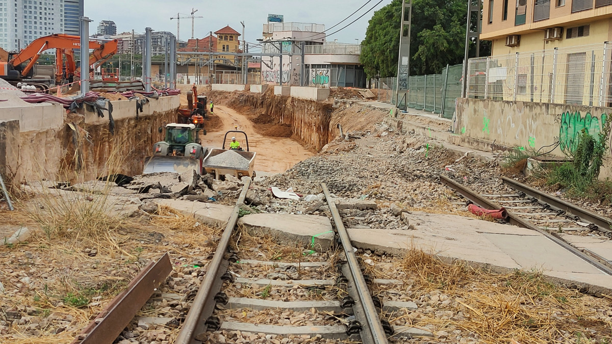 soterramiento vias Burjassot